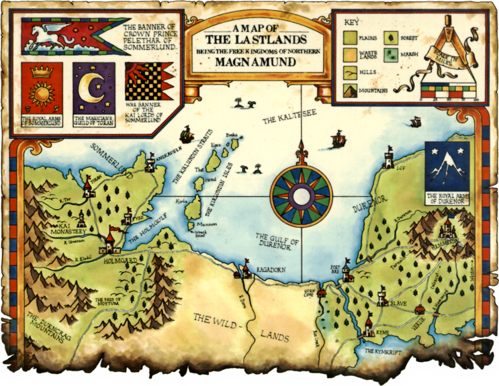 L'univers du Magnamund Map