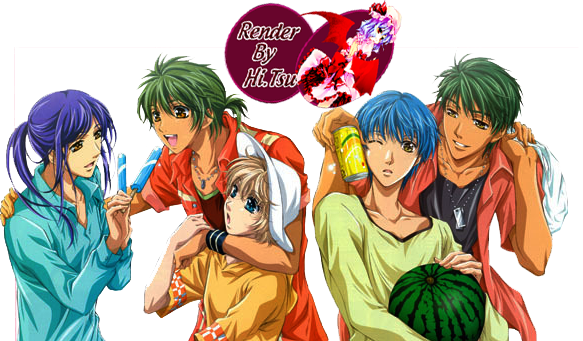 Render by Hikari...XD RenderLen-Ryuu-Yunoki-Shimizu-HiharabyHikariTsukiyomi