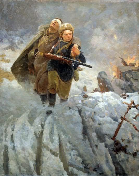 Pinturas sobre la Segunda Guerra Mundial 13sovietica