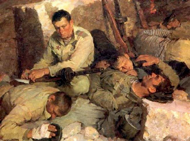 Pinturas sobre la Segunda Guerra Mundial 28sovietica