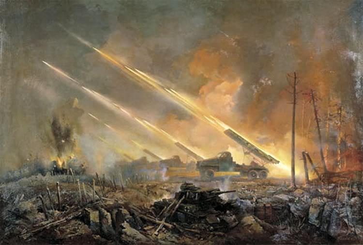 Pinturas sobre la Segunda Guerra Mundial 35sovietica