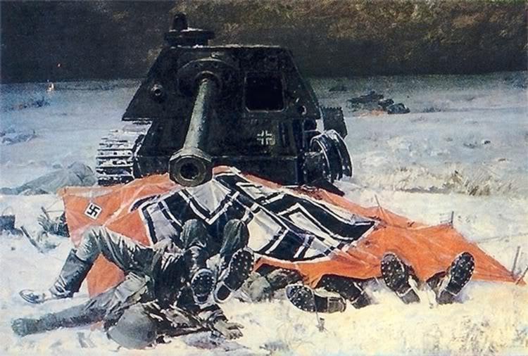 Pinturas sobre la Segunda Guerra Mundial 36sovietica
