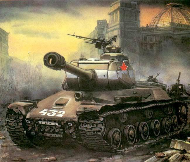 Pinturas sobre la Segunda Guerra Mundial Tanquesovietica