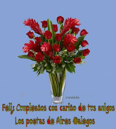 FELIZ CUMPLEAÑOS MARÍA INÉS  Aires Galegos y sus poetas te felicitamos en este día Fonditocumpleaos-1-1