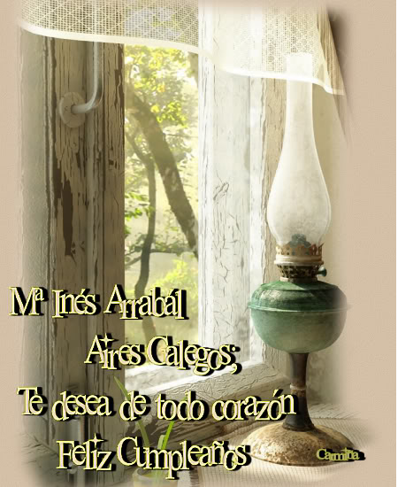 ---FELIZ CUMPLEAÑOS MARÍA INÉS ARRABAL--- Texto