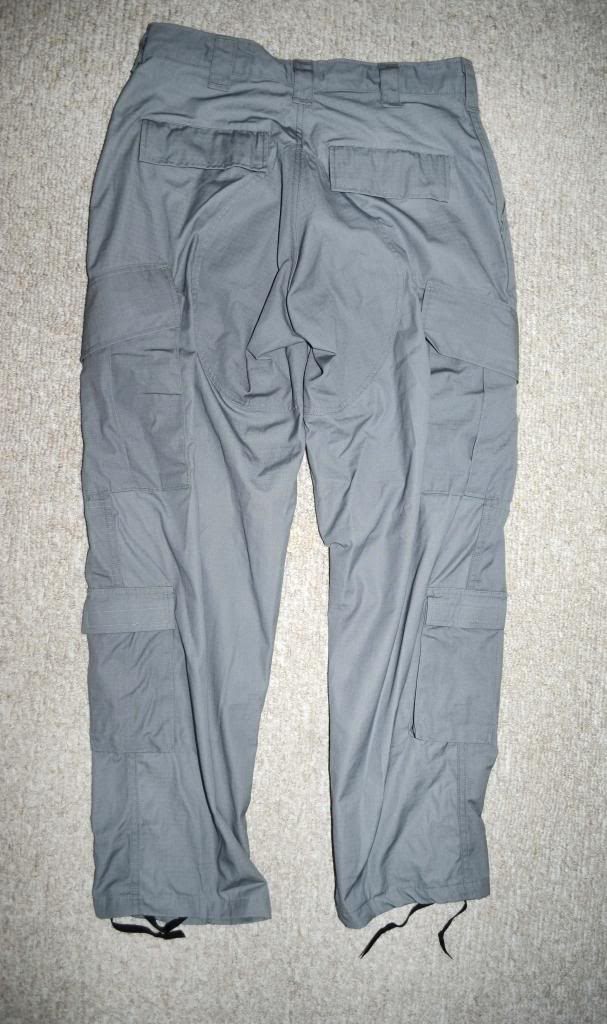 """ANA Gray Field Pants with Green """"Severe Pentaties"""" Warning Tag DSC_5573_zpsc6ee57b7"""