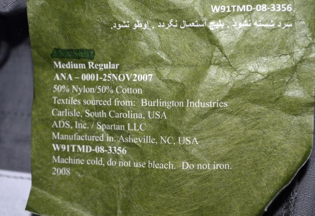 "ANA Gray Field Pants with Green ""Severe Pentaties"" Warning Tag DSC_5576_zps4dbcbb8e"