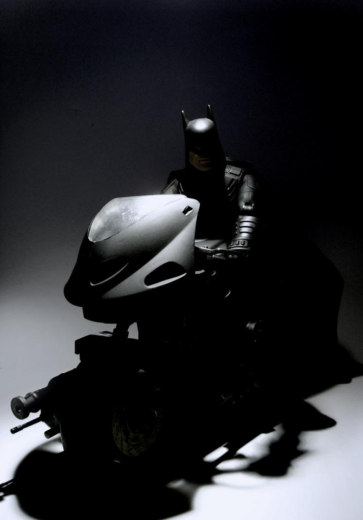 Bat-cycle and rider. Batcycleinshadow2_zpsce6e657f