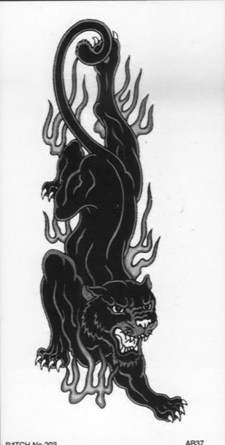 Fichas de personajes Arm-tattoo-panther-flame