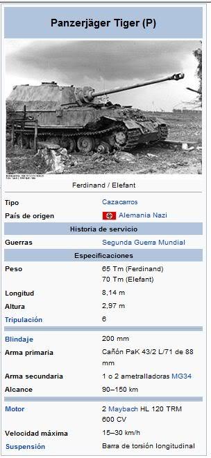 Tanques, solo tanques PanzerjgerTigerPFerdinandyElefant