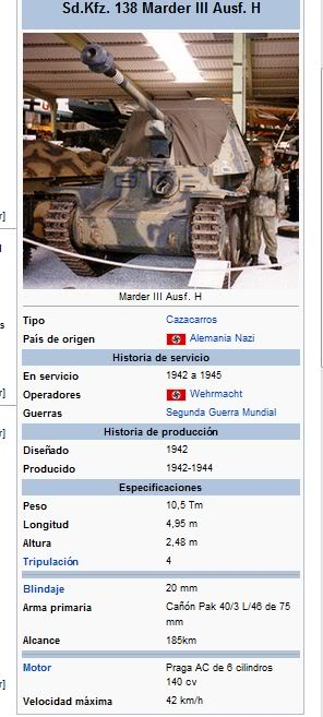 Tanques, solo tanques SdKfz138MarderIIIAusfH