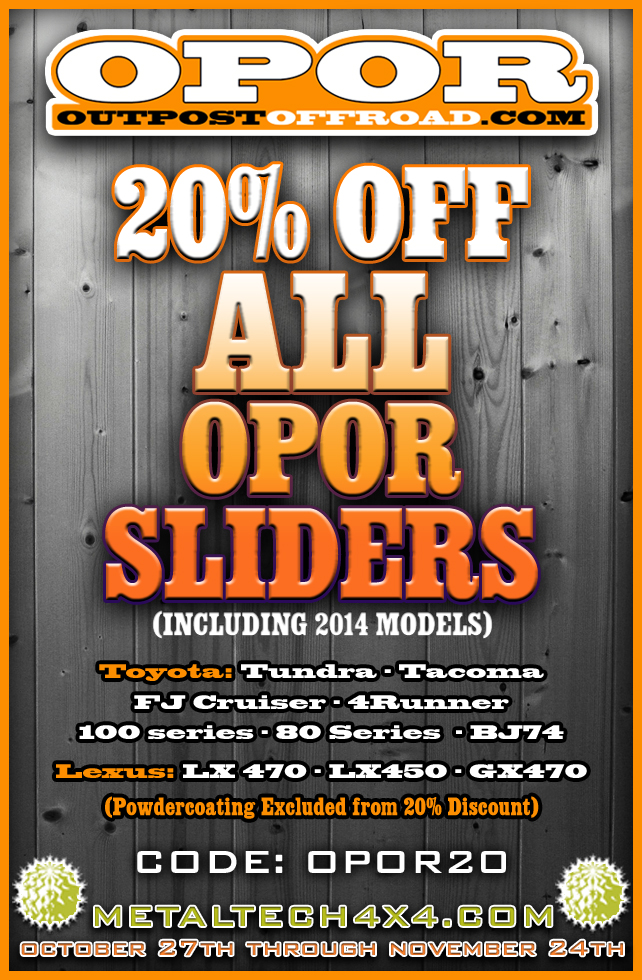 Out Post Off Road 20% Off Sale at Metal Tech 4x4 October 27, 2014 - November 24, 2014 42_zpsce08234e