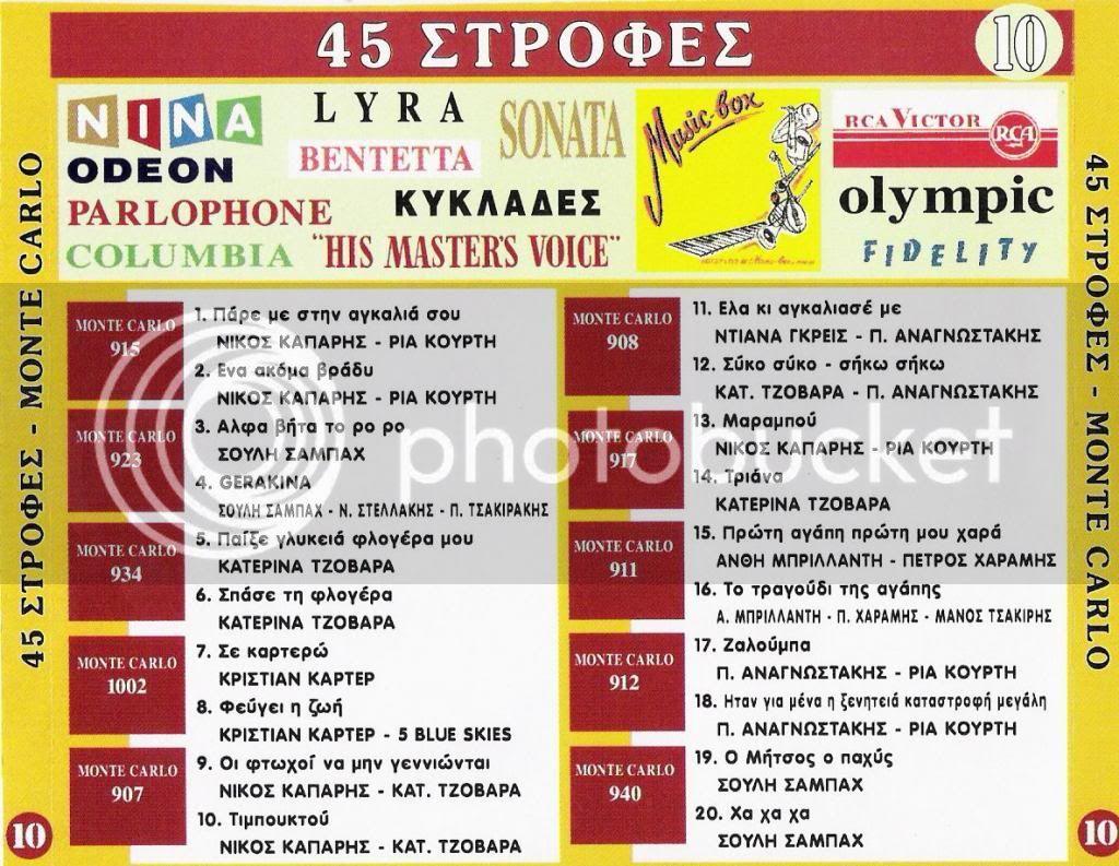 ΠΑΛΙΑ ΛΑΙΚΑ CD 10   45 ΣΤΡΟΦΕΣ BACK10-2