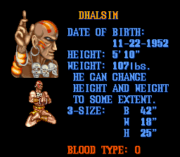 Analisis Street Fighter II Dhalsim1