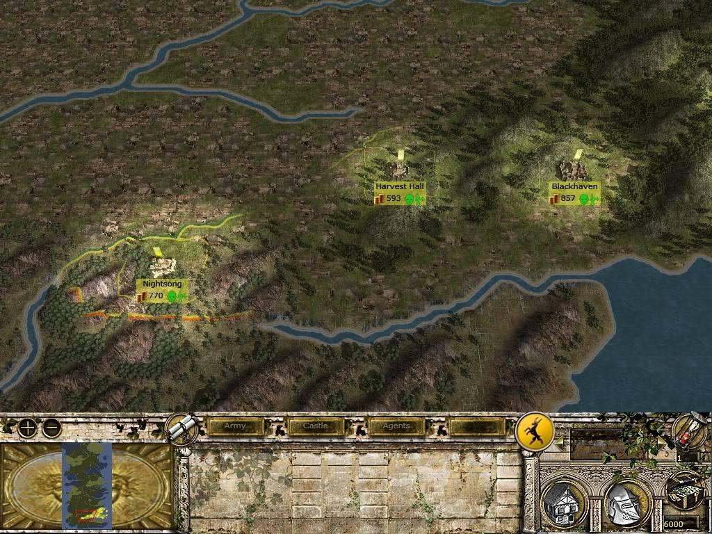 Бурен край - благородни домове и кратко описание Map3