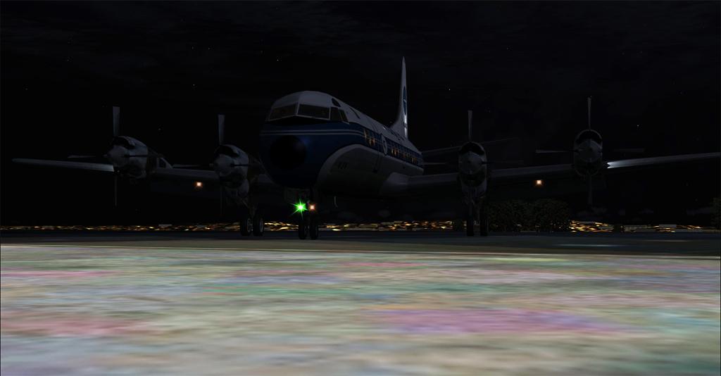 Imagens noturnas do Electra 2-28