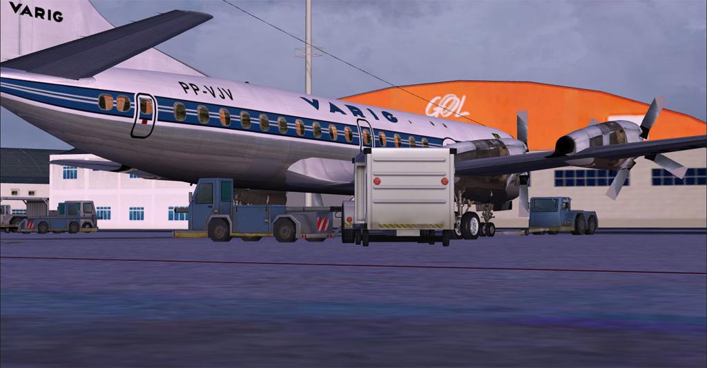 Electra II se preparando para decolar de Congonhas 3-28