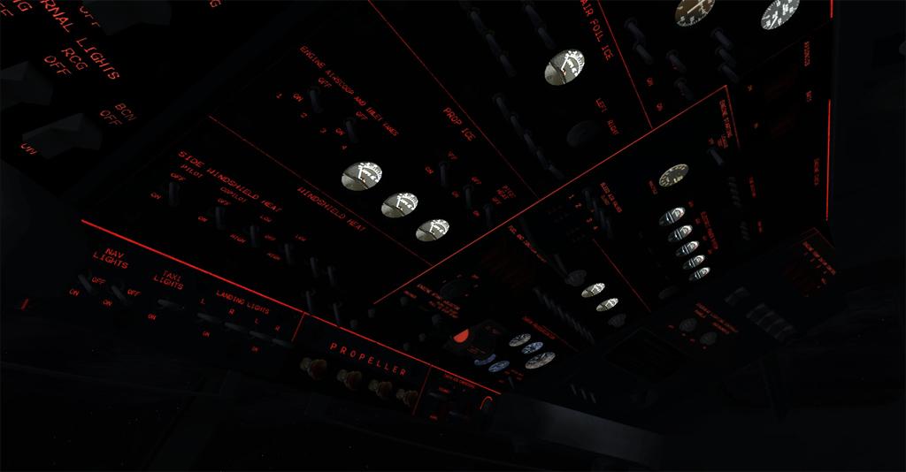 Imagens noturnas do Electra 4-26
