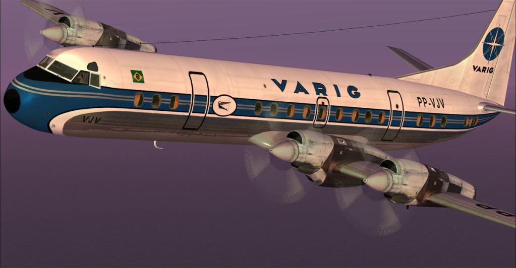Varig PP-VJV em novas texturas usando DX10 preview no FSX 5-17