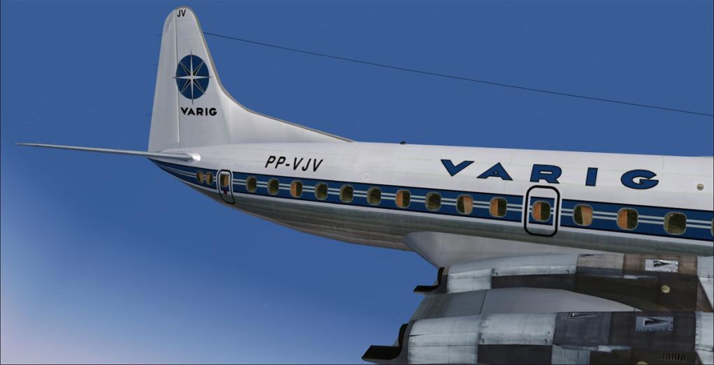 Varig PP-VJV em novas texturas usando DX10 preview no FSX 7-18