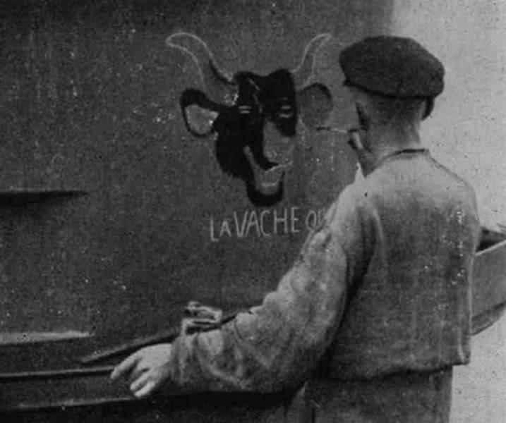 Couleurs de la vache qui rie du U-69? U-69-LartistedelaVachequirit