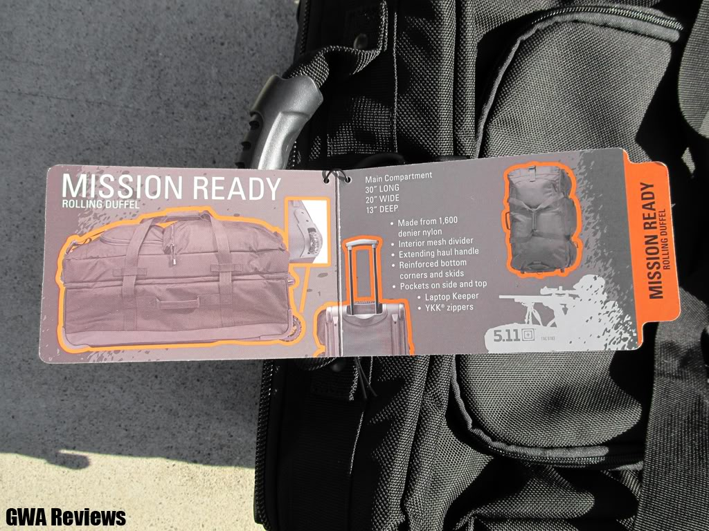 5.11 Tactical Mission Rolling Duffel (Image heavy) IMG_0300copy