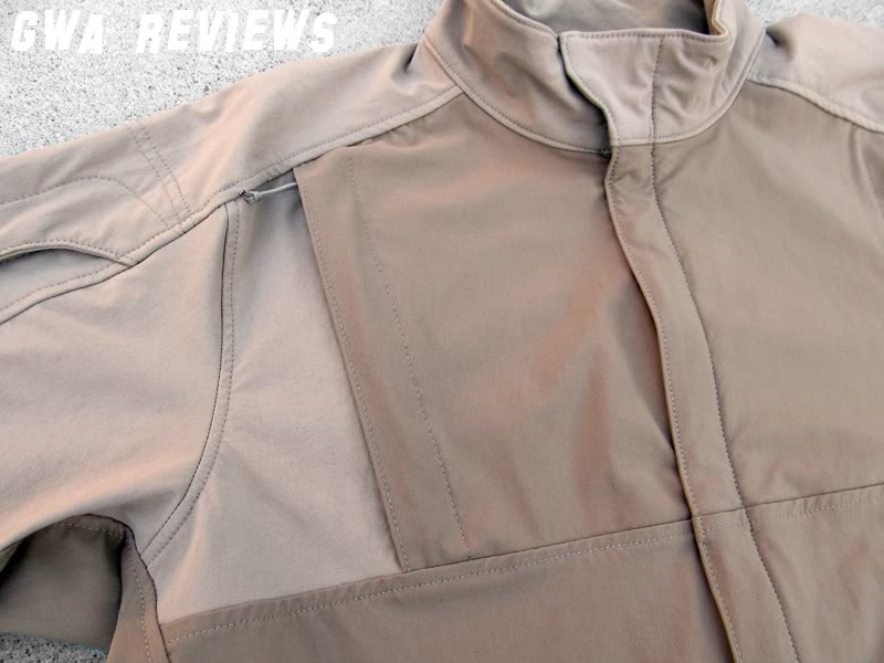 Massif ITJ Soft Shell Jacket - Updated with water test, scroll all the way down ChestPocketCloseup