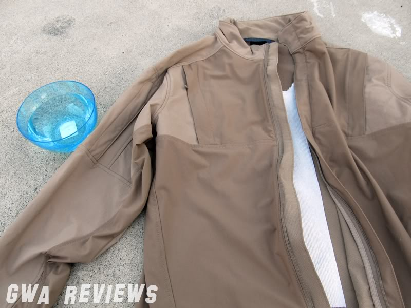 Massif ITJ Soft Shell Jacket - Updated with water test, scroll all the way down JacketandTPclosed