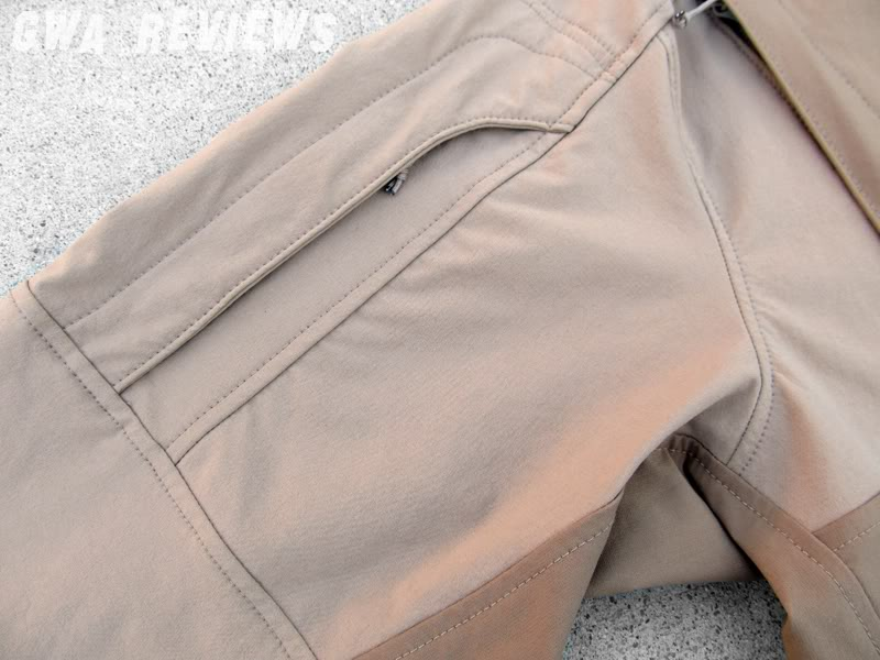 Massif ITJ Soft Shell Jacket - Updated with water test, scroll all the way down SleeveCloseup