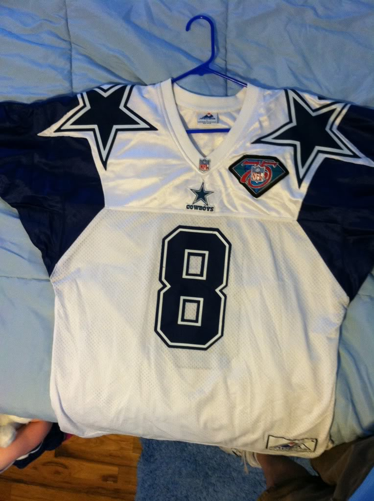 1994 Troy Aikman double star authentic Photo1