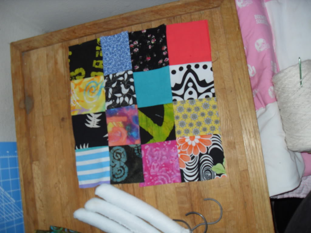 sooo many things get started, few ever get finished.... today: quilt and hangers 002-1
