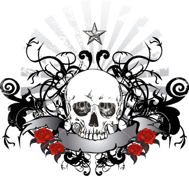 What other websites are you on right now? Ist2_4361378-dark-black-skull-ribbon-emblem