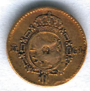 Medio Escudo de Fernando VII (1808-1833), ceca Madrid, año 1817 Z1817regv