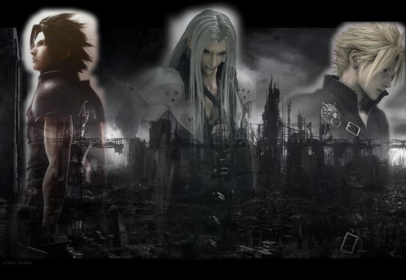 Zack Fair Cloud Strife Sephiroth Wallpaper