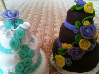 MINI WEDDING CAKE IN FIMO CREAZIONI001