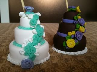 MINI WEDDING CAKE IN FIMO CREAZIONI002