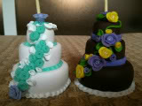MINI WEDDING CAKE IN FIMO CREAZIONI003