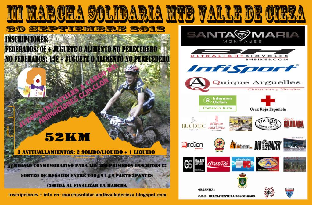 III Marcha Solidaria MTB Valle de Cieza (30 de Septiembre) CANTABRIA Cartel