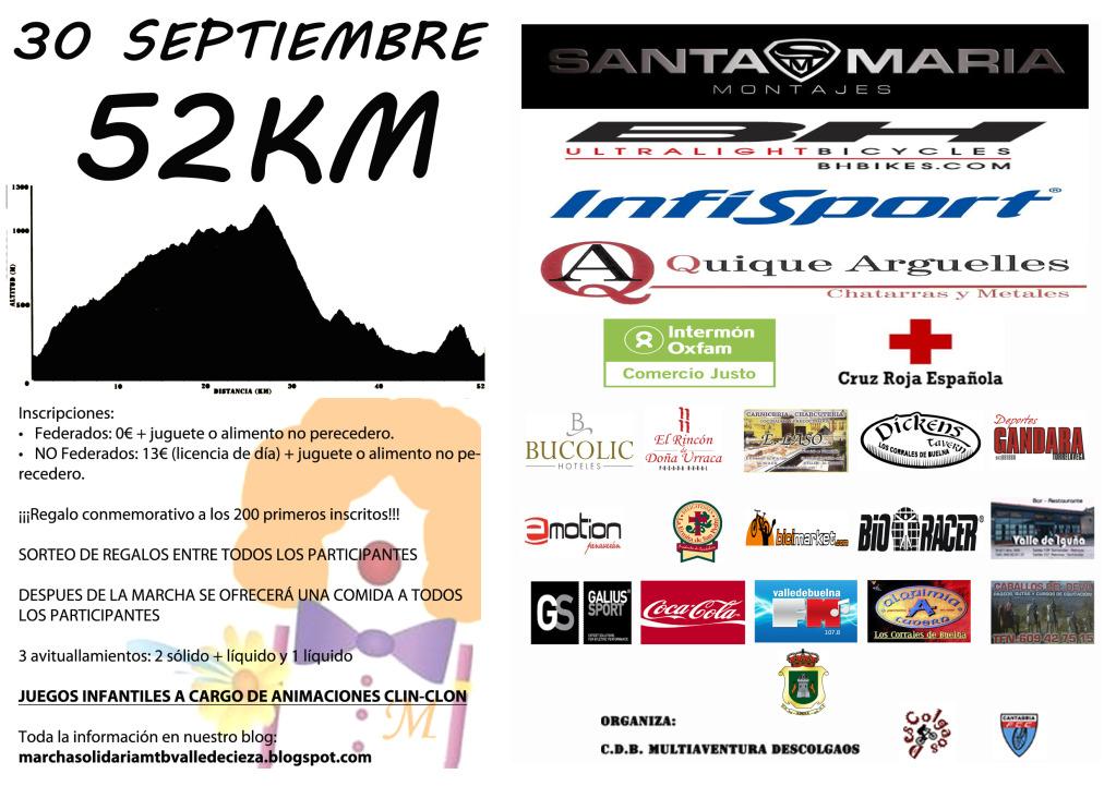 III Marcha Solidaria MTB Valle de Cieza (30 de Septiembre) CANTABRIA Panfletotrasera