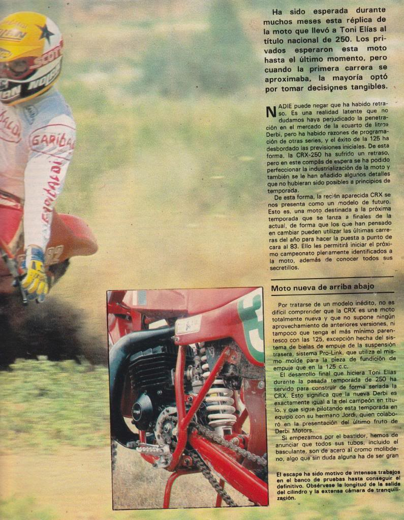 Derbi Cross 250 CRX - Motociclismo 763 - Julio 1982 02