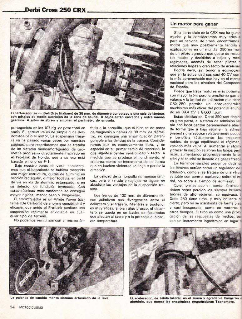 Derbi Cross 250 CRX - Motociclismo 763 - Julio 1982 04