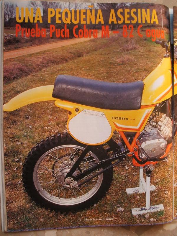 Puch Cobra M-82 C Agua - Artículo Motociclismo Clásico Cobra
