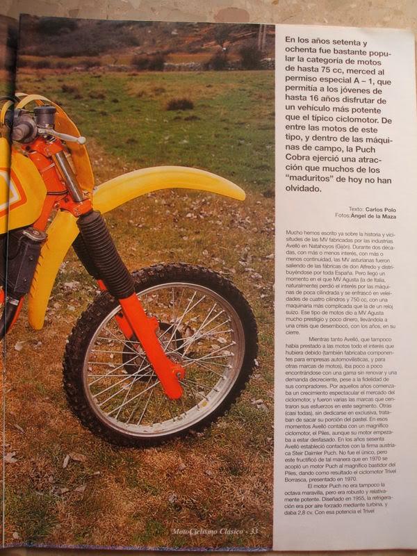 Puch Cobra M-82 C Agua - Artículo Motociclismo Clásico Cobra1