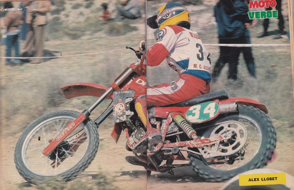 Alex Llobet En Acción - Moto Verde 35 - Junio 1981 Poster
