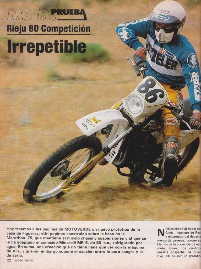 Rieju 80 Competición - Moto Verde 61 - Agosto 1983 R1