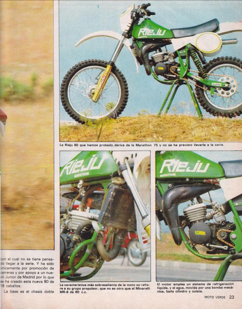 Rieju 80 Competición - Moto Verde 61 - Agosto 1983 R2