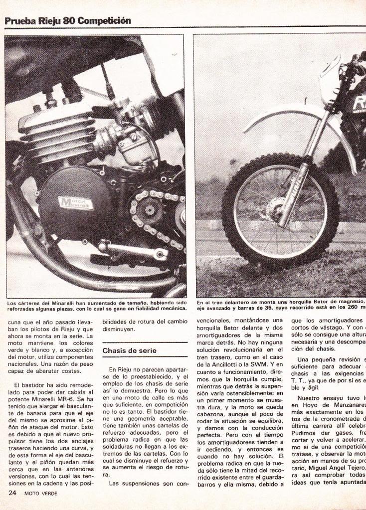 Rieju 80 Competición - Moto Verde 61 - Agosto 1983 R4