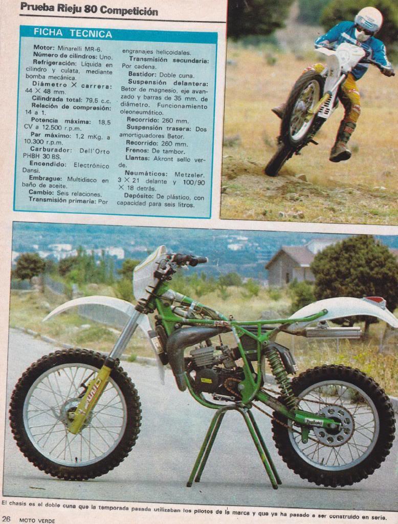 Rieju 80 Competición - Moto Verde 61 - Agosto 1983 R5