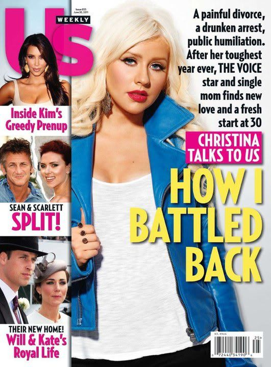 Xtina on cover of US Weekly (June 2011) 1-1
