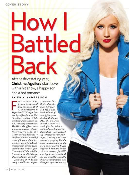 Xtina on cover of US Weekly (June 2011) 2